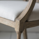 Camille French Style Weathered Finish / Natural Linen
