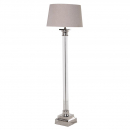 Glass & Nickel Tall Contemporary Floor Lamp