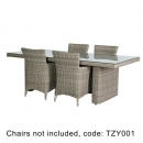 Outdoor Rattan Dining Table with chairs