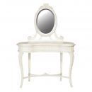 Antique White Provencale French Carved Dressing Table