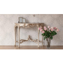 Provencale Antique White French Console Table Crackle Finish