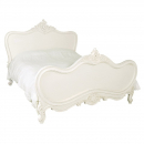 Antique White Provencale French Style Bed