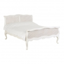 Antique White Provencale Rattan French Bed
