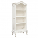 Provencale Antique White Painted Arch Top French Bookcase