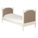 Antique White Provencale 3ft French  Linen Upholstered Bed