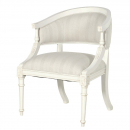 Provencale Antique White Curved French Bedroom Chair