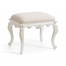 Antique White Provencale Dressing Table Stool
