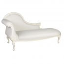 Antique White Provencale French Chaise