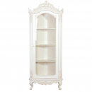 Provencale Antique White Tall Glazed Corner Cabinet