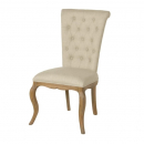 Linen and Oak Contemporary Dining Chair