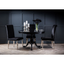 Rochelle Noir Drum-Top French Dining Table