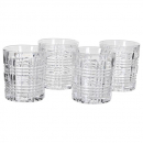 Set of 4 Chequers Glass Tumblers