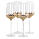 Set of 4 Copper White Wine Glasses