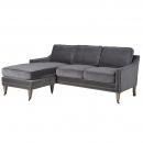 Silver Studded L Shape Sofa