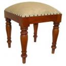 Sleigh Dressing Table Stool - Mid Mahogany