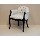 Louis French Chair - Finished in Dark Oak Ceruse frame & MDL fabric
