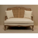 Louis Sofa with Old Wood Frame