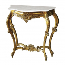 Gilt French Small Console Table