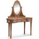 Villeneuve Oak French Dressing Table with Mirror
