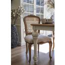 Villeneuve Oak French Rattan Back Chair