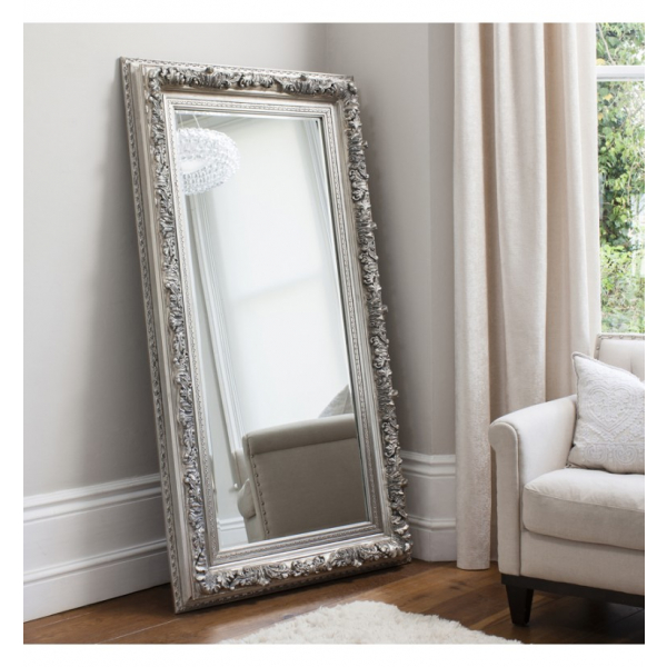 Antwerp Leaner Silver French Style Mirror