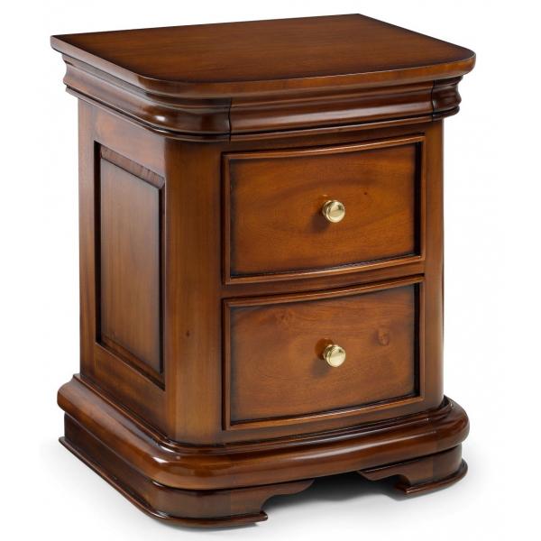 Antoinette French Sleigh 2 Drawer Bedside Table