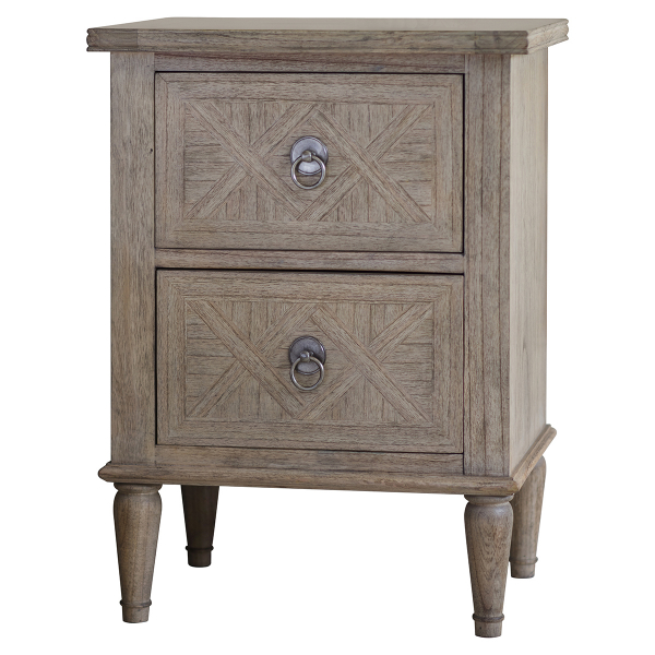 Camille French Style Weathered Bedside Table