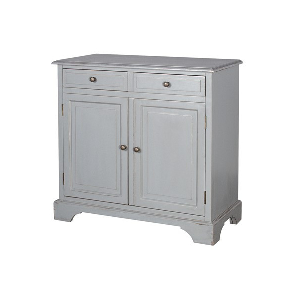 Chamonix Grey 2 Door 2 Drawer Cupboard