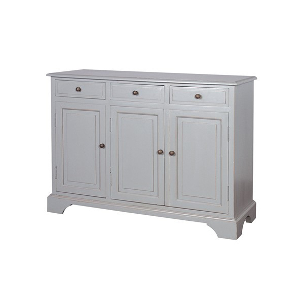 Chamonix Grey 3 Door 3 Drawer Sideboard