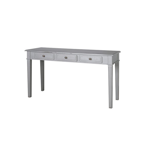 Chamonix Grey 3 Drawer Hall Table
