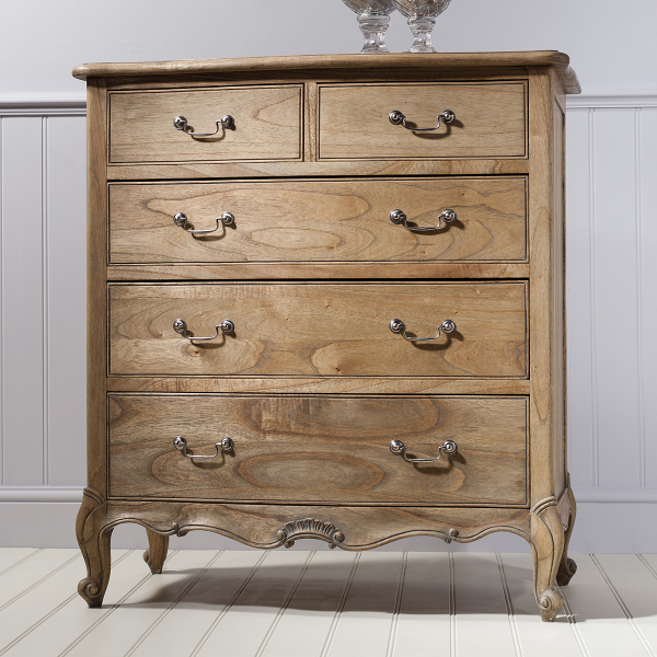 Charlotte French Inspired 5 Drawer Chest