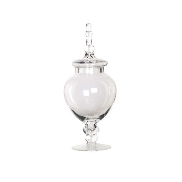 Clear Glass Bonbon Jar