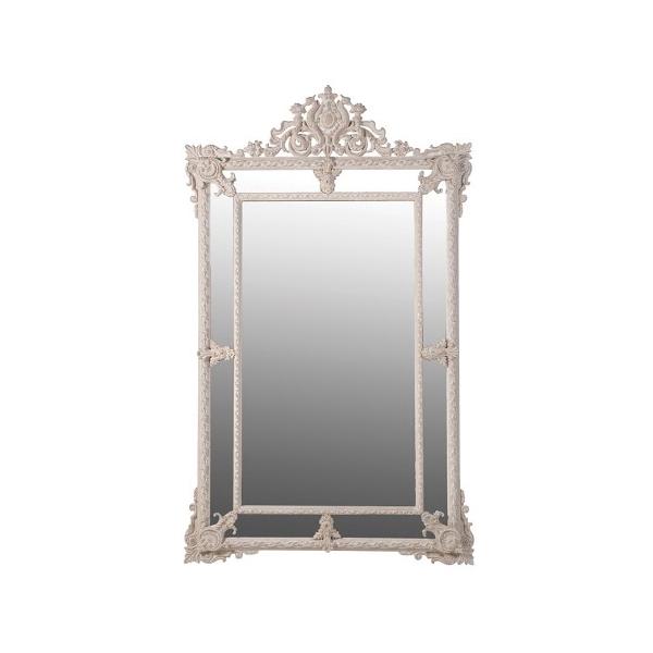 Cream Carved mirror