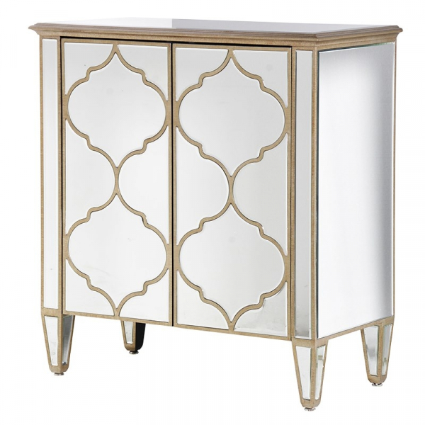 French Contemporary Mirrored Glass Cabinet