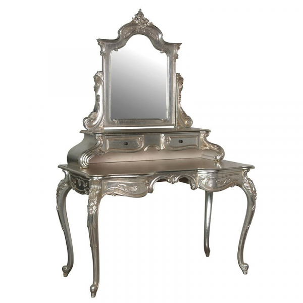 Fleur French Dressing Table with Mirror
