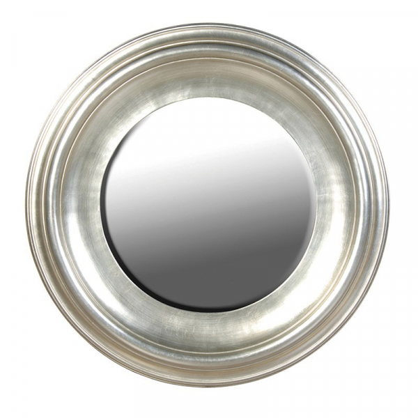 Fleur Silver Round French Wall Mirror