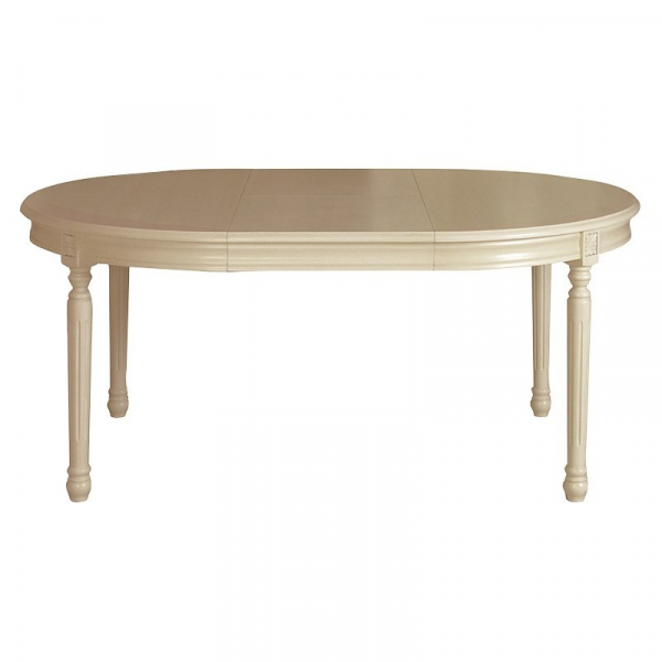 Loire French Extending Dining Table - Extended View