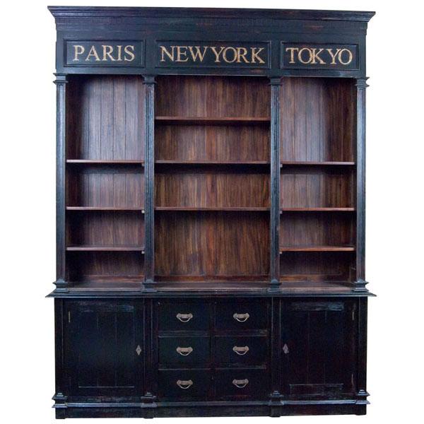 Louis French Triple Bookcase