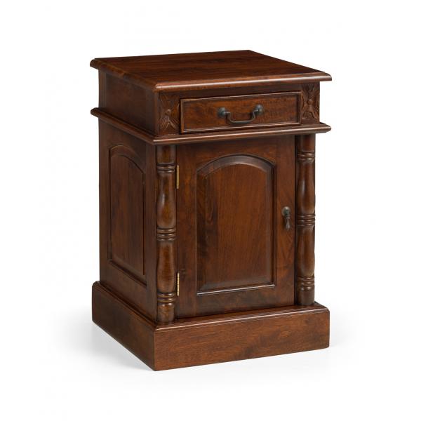 Mid-Mahogany Victorian Bedside Cabinet