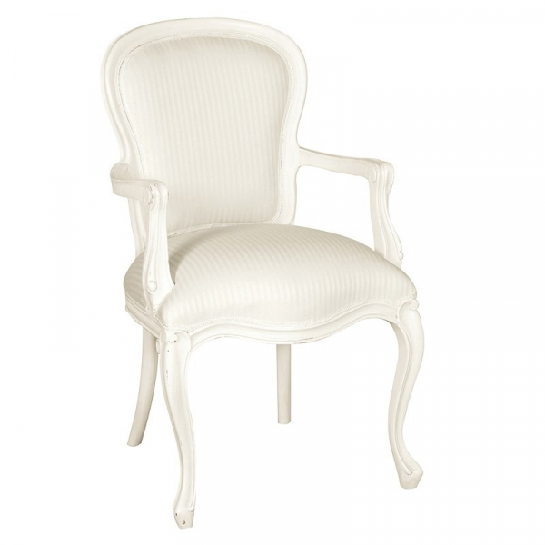Provencale Antique White French Armchair