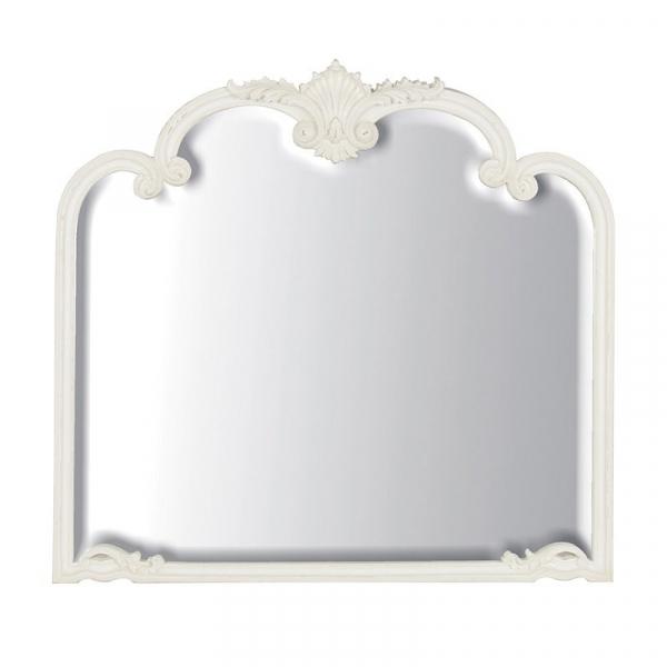 Provencale Antique White French Overmantel Mirror