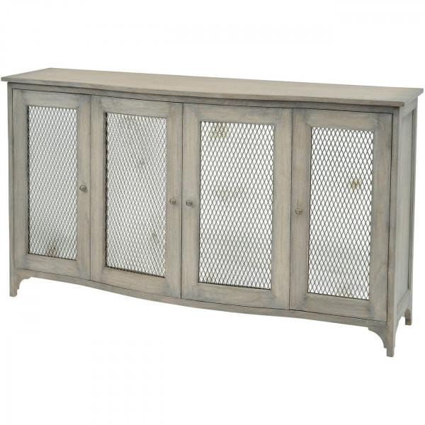 Regal Mindi Wood 4 Door Sideboard
