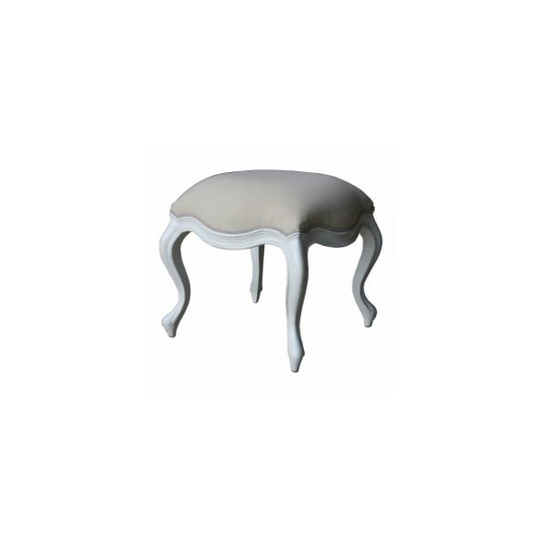 Rococo French White Dressing Table Stool