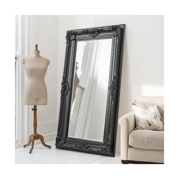 Valois Black French Style Leaner Mirror